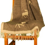 100% Wool Moose Throw