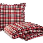 100% cotton Mountain Red Throw from Brunelli