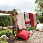 3 color Toboggan Throw from Brunelli