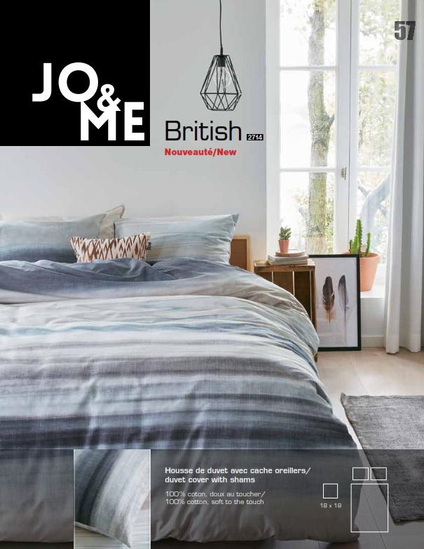 British literie brunelli 100 coton douce au toucher for Housse de couette in english