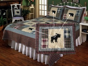 Forest Moose, a warm feeling Quilt for the cottage