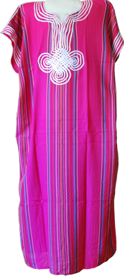 Moroccan dress rasberry